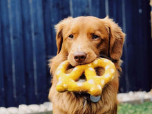 Load image into Gallery viewer, Felt Pretzel Dog Toy Plain