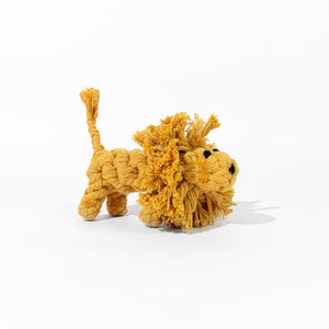Natural Cotton Rope Dog Toy Lion