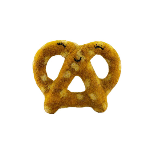 Felt Pretzel Dog Toy Plain