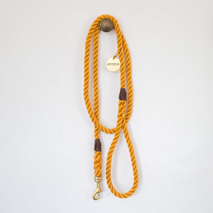 Marine Rope Dog Leash in Marigold