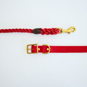 All Weather Canvas Dog Collar Red