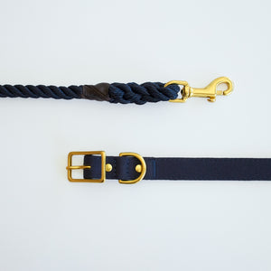 Recycled Canvas Dog Collar Navy
