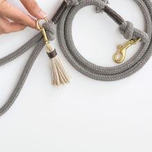 Load image into Gallery viewer, Organic Cotton Rope Dog Leash in Stone Grey