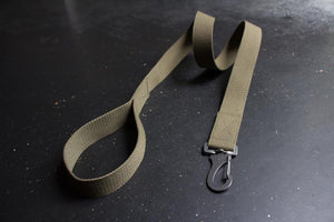 Cotton Canvas Dog Lead Khaki