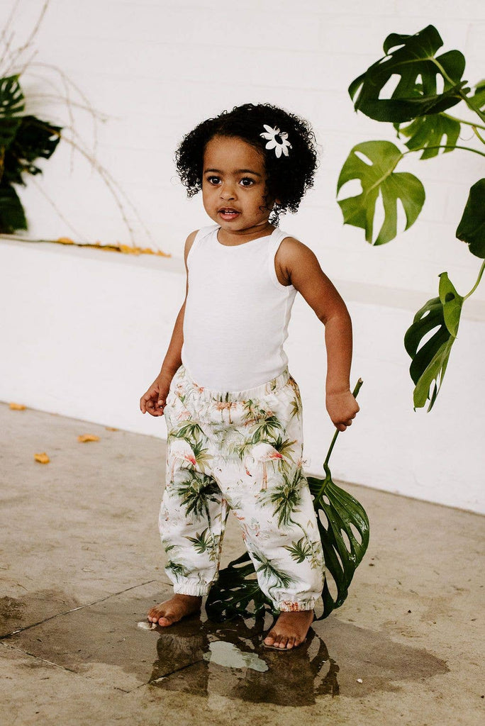 Ashley Rose Clothing - Kids Joggers in Flamingo