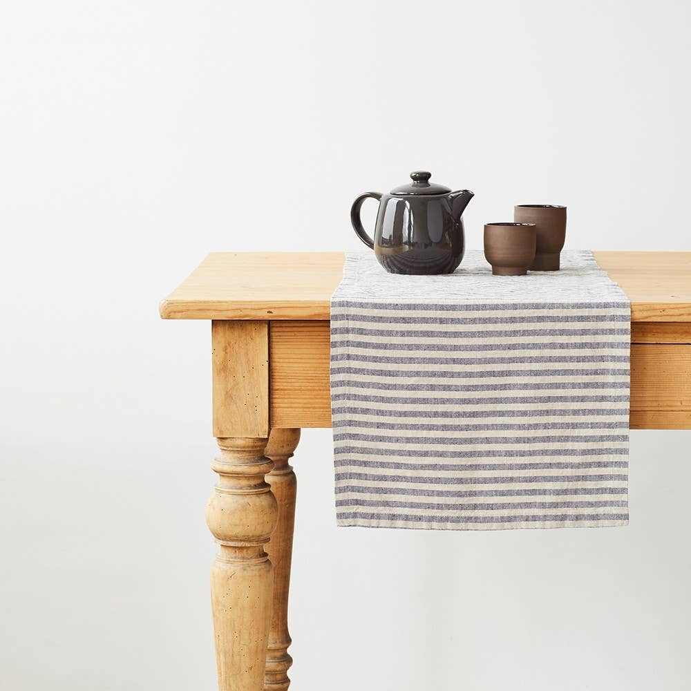 Linen Tales - Table Runner with Stripes