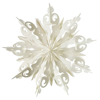 Large Curled Snowflake Ornament