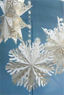 Large Spotted  Snowflake Ornament