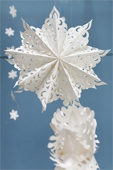 Large Crescent Snowflake Ornament
