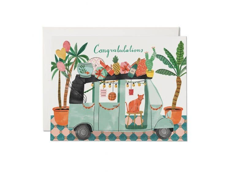 Red Cap Cards - Party Tuktuk