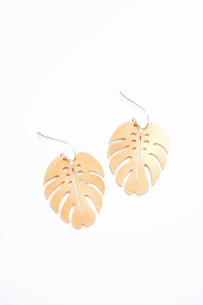 Pauline Stanley Studio - Monstera Leaf Earrings