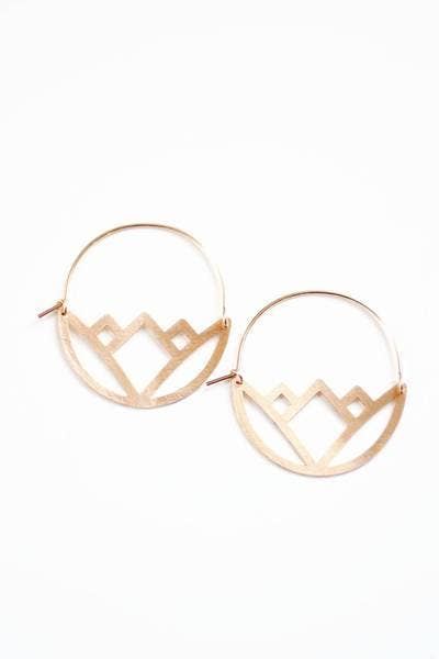 Pauline Stanley Studio - Geometric Lotus Hoop Earrings