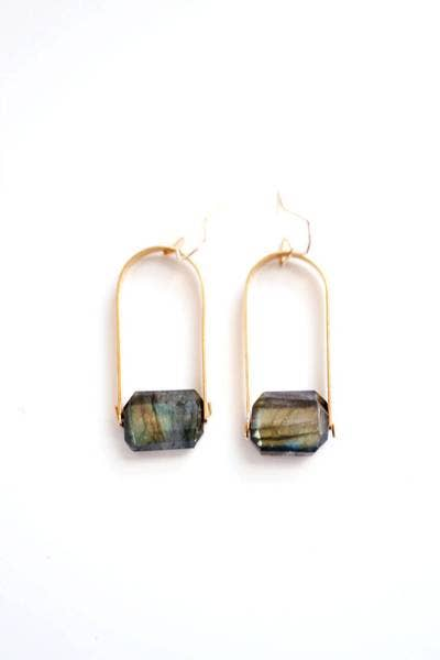 Pauline Stanley Studio - Faceted Stone Arch Earrings