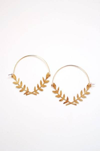 Pauline Stanley Studio - Lauren Wreath Hoop Earrings