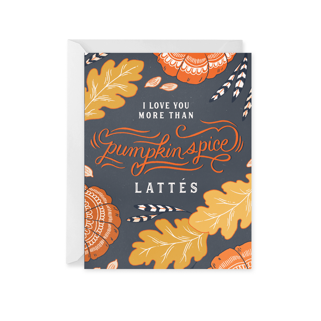 Paper Raven Co. - Pumpkin Spice Latte Card