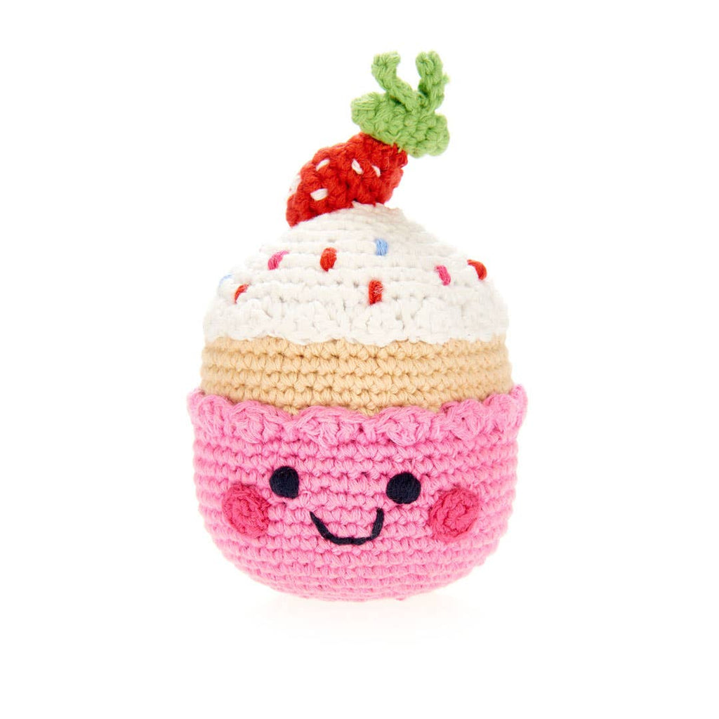 Pebble - Friendly Cupcake with Strawberry