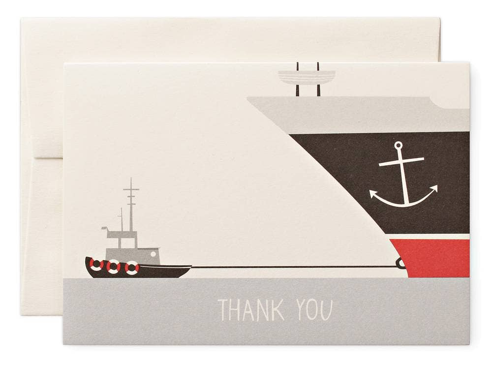 Pleased to Meet - Thank You Boat Greeting Card