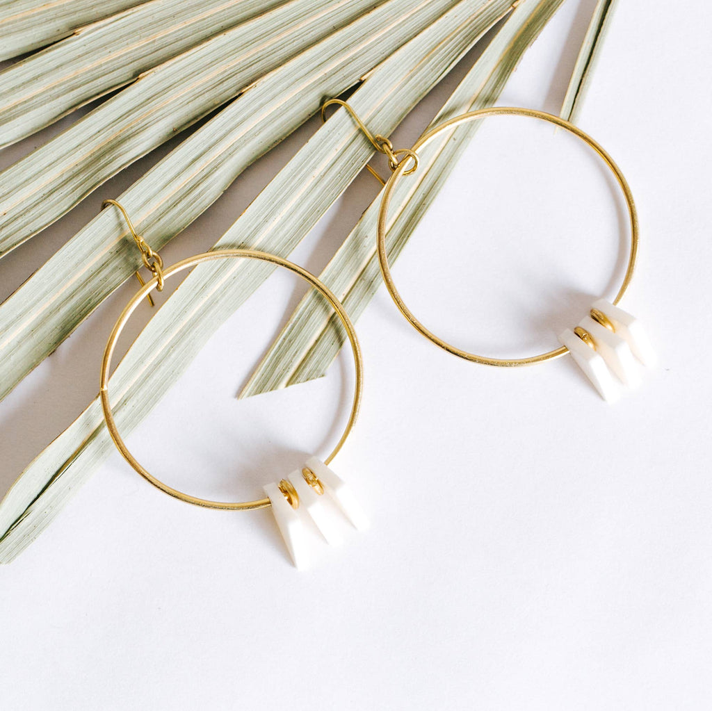 Amsha - Triangle Hoop Earrings