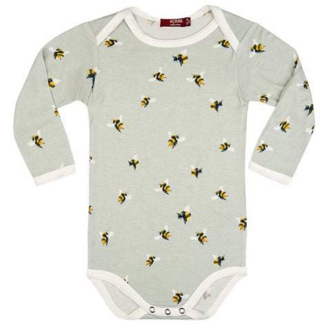 Bumblebee Bamboo Long Sleeve One Piece 3-6m
