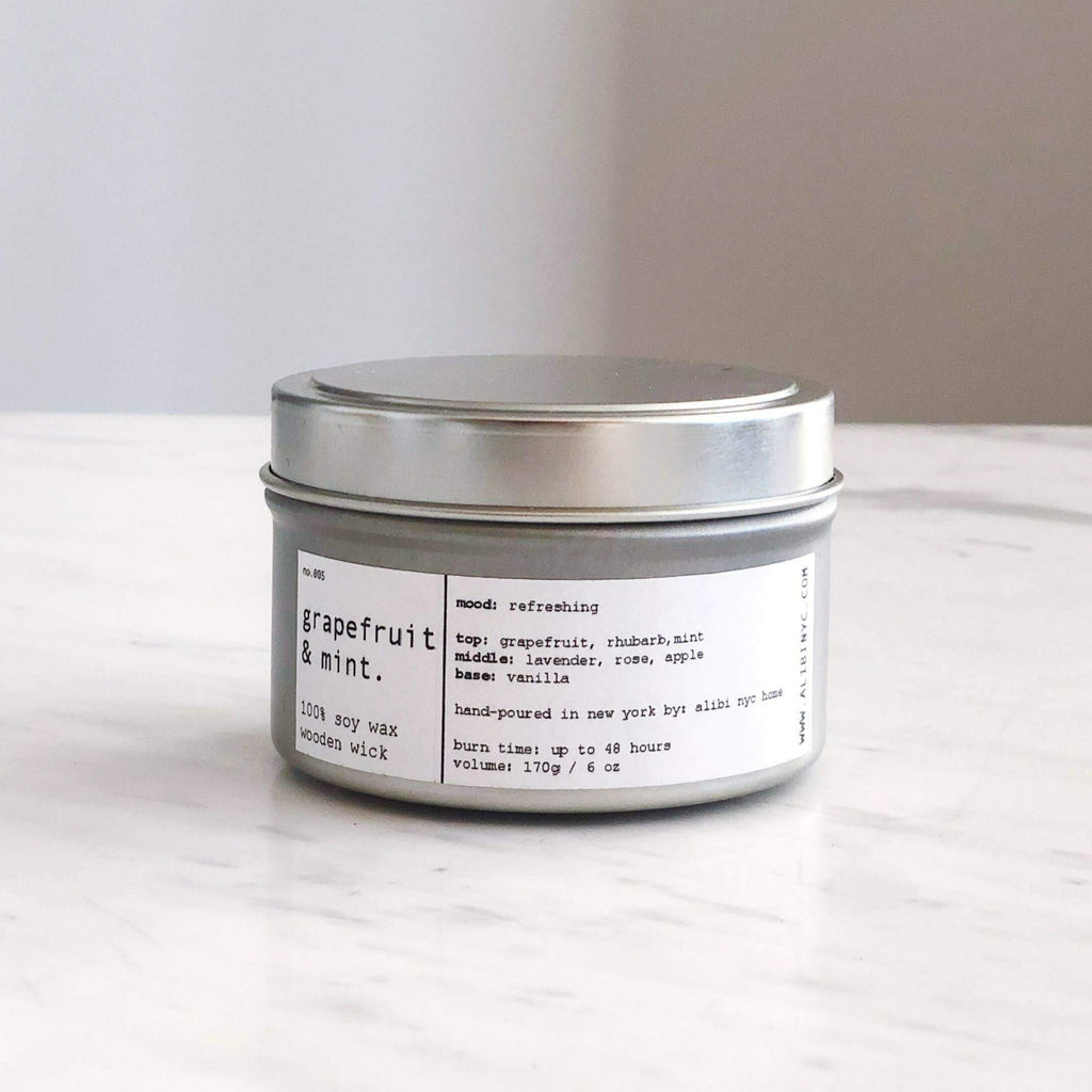 ALIBI NYC - SWEET GRAPEFRUIT | 100% SOY TRAVEL SIZE CANDLE