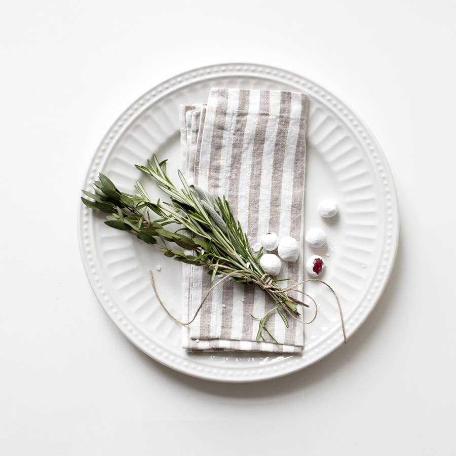 Linen Tales - Set of 2 Napkin with Stripes
