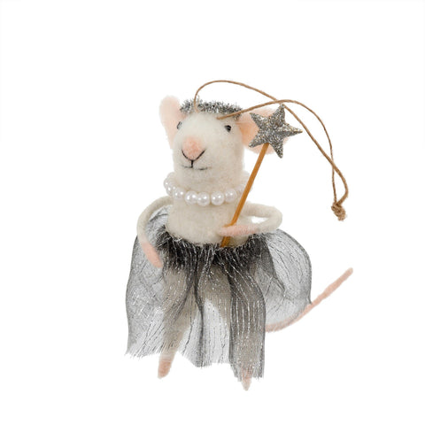 Ballerina Betty Felted Mouse Ornament