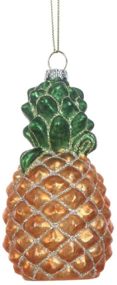 Sweet Tropical Pineapple Hanging Christmas Ornament