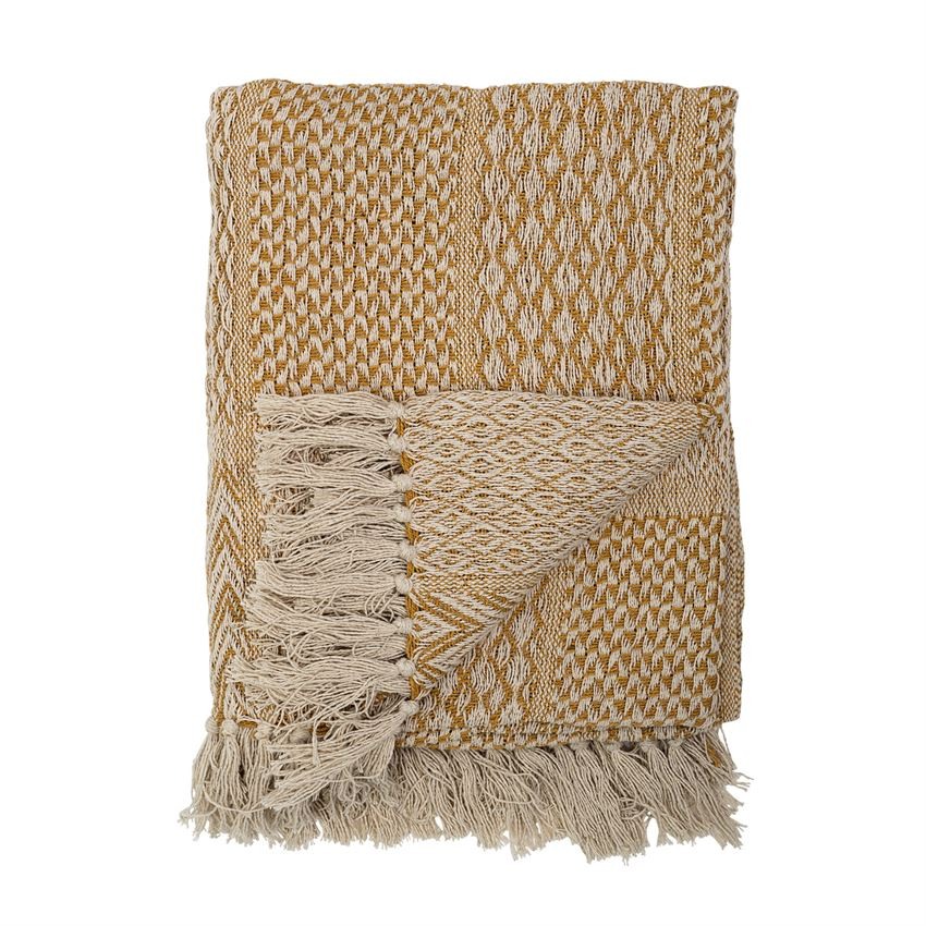 Mustard Comfy Eco-friendly Throw