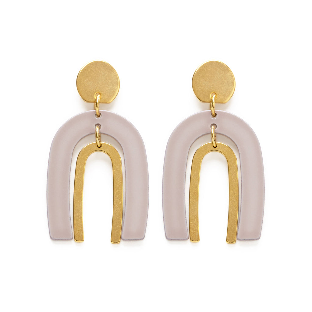 Arches in Taupe Earrings
