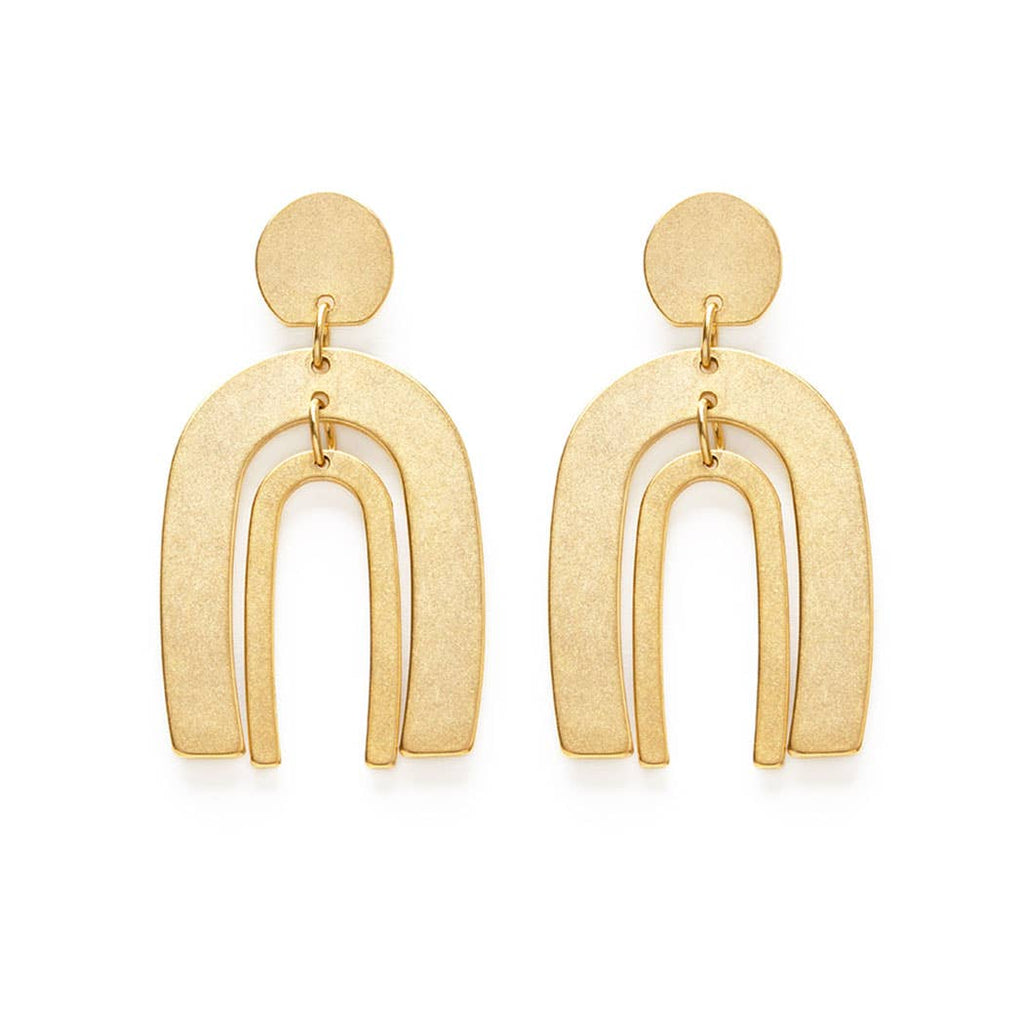 Gold Arches Earrings