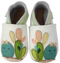LAIT ET MIEL - Baby leather slippers - Cactus 6-12m