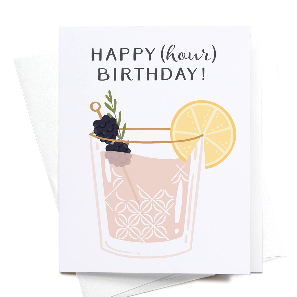 Happy (Hour) Birthday! Cocktail Greeting Card