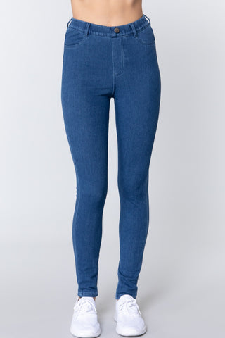 Knit Denim Jeggings