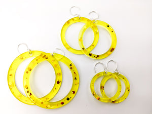 "Honey Hoops *Small/ 1 pair 1.25"" ring"