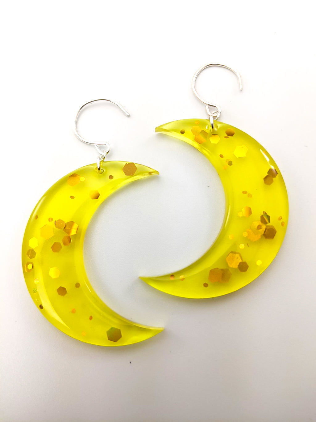 Crescent Moon Earrings ~ Honey
