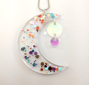 Confetti Moon Necklace ~ Large ~