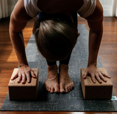 Grounded Yoga Mat & Cork Block bundle