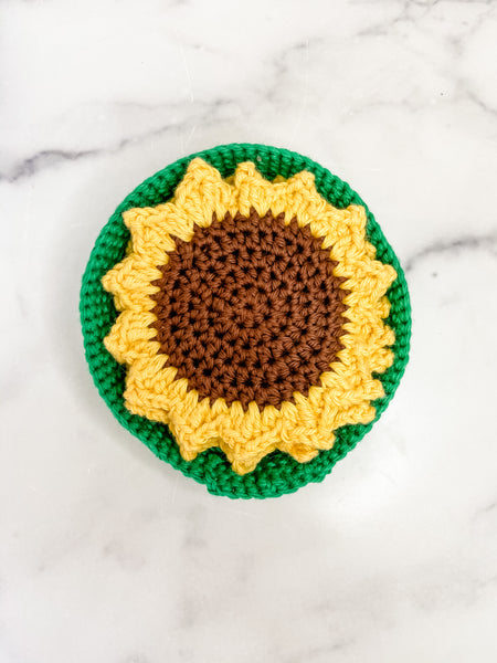 Sunflower Knit Coasters