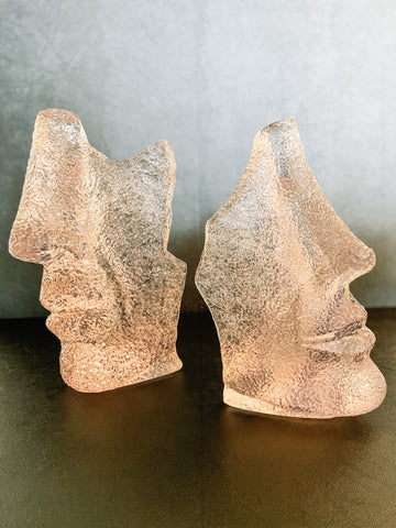 Man & Woman Face Sculptures (paired) - Brandt's Home Decor