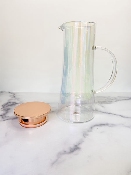 Iridescent Glass Iced Tea Carafe