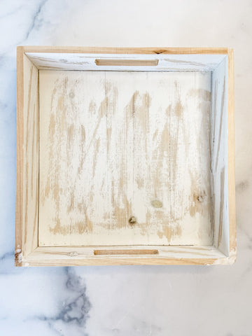 Washed Wood Tray- Medium
