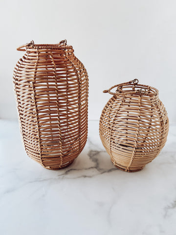 Rattan Lanterns - Brandt's Home Decor