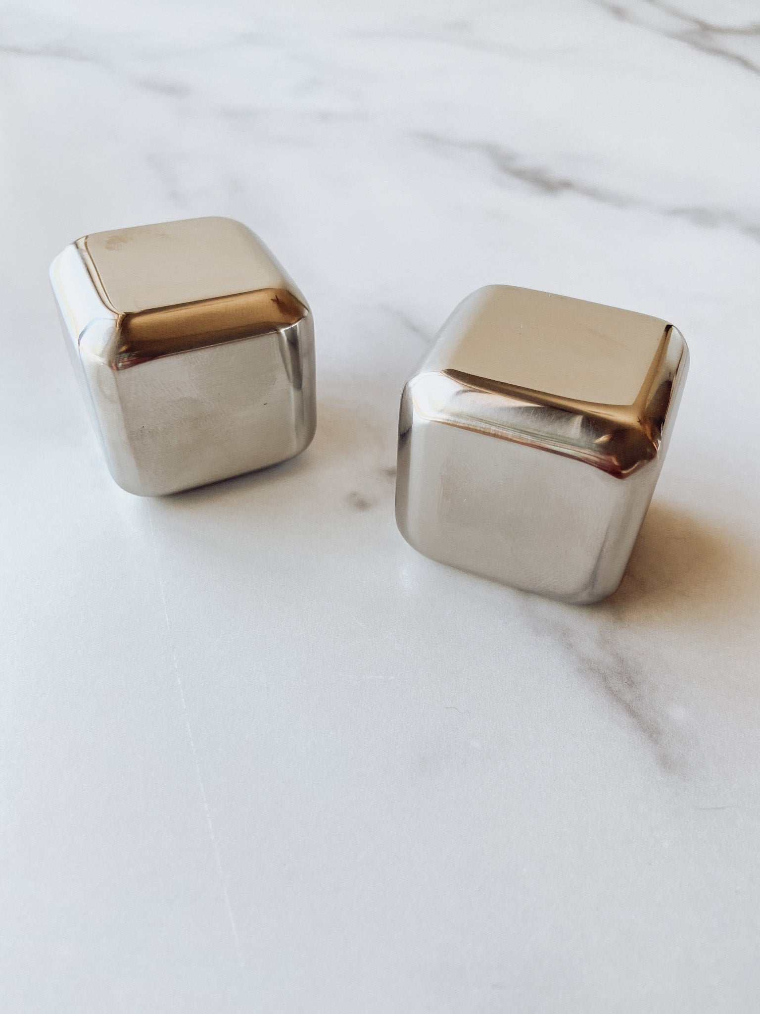 Glacier Rocks Stainless Steel Cubes (set of two)