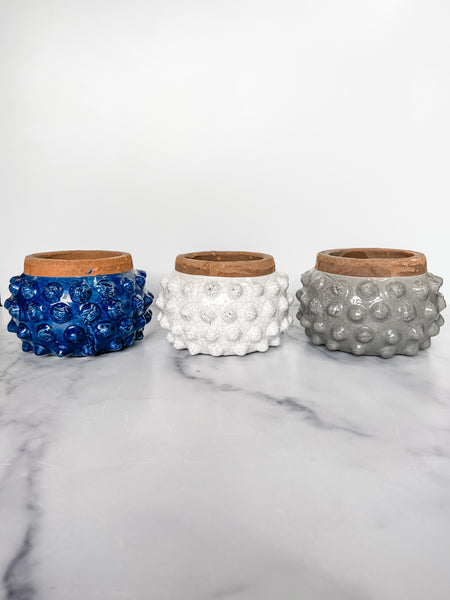 Dotted Terracotta Candles