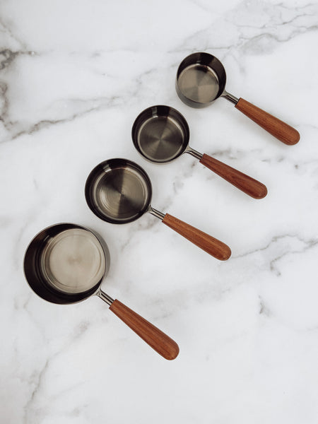 Onyx & Wood Measuring Cups - Brandt's Home Decor
