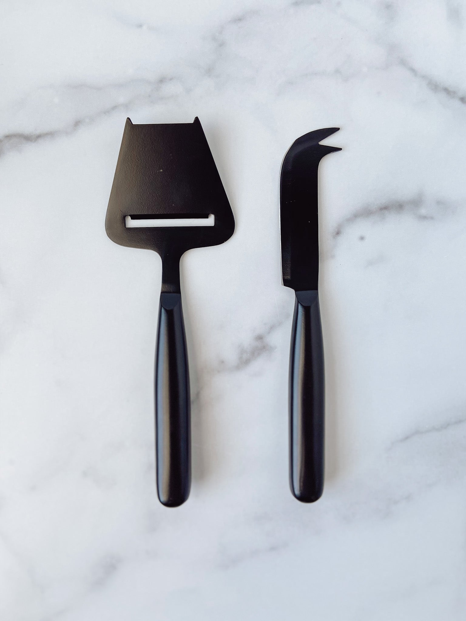 Nero Cheese Knives in Matte Black (set of 2) - Brandt's Home Decor
