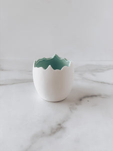 Small Chickadee Pot (Mint) - Brandt's Home Decor
