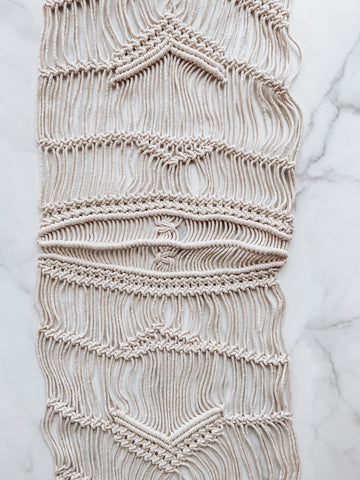 Macrame Table Runner - Brandt's Home Decor
