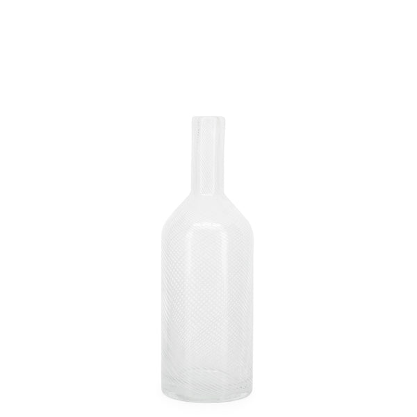 Santo Swirl Glass Bottle Vase - Brandt's Home Decor