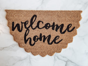 Scallop Welcome Doormat - Brandt's Home Decor